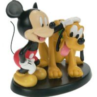 Mickey Mouse patting Pluto